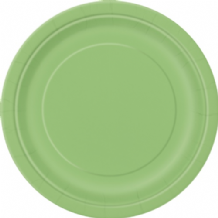 "Small Lime Green Plates - 7"" Paper Plates (20pcs)"